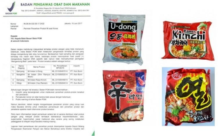 BPOM sebut mie instant asal Korea ini mengandung babi