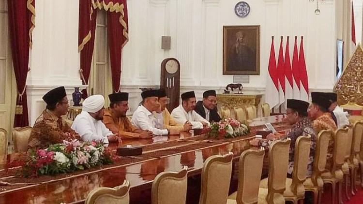 GNPF MUI bertemu dengan Jokowi di Istana