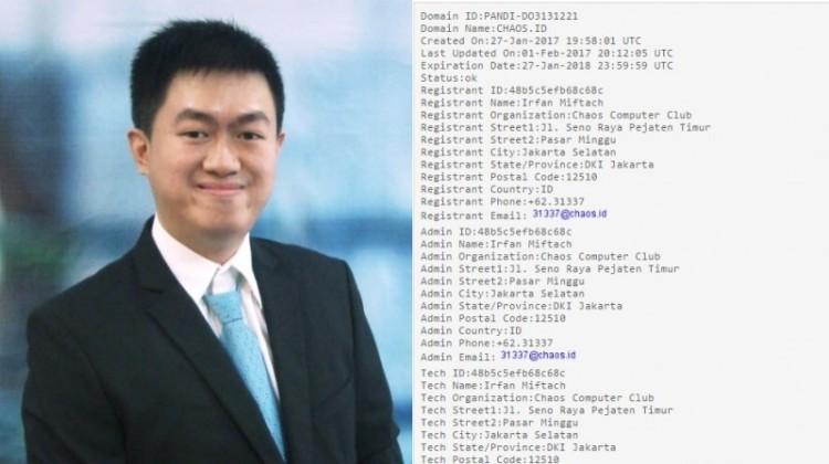 Irfan Miftach pemilik situs chaos.id