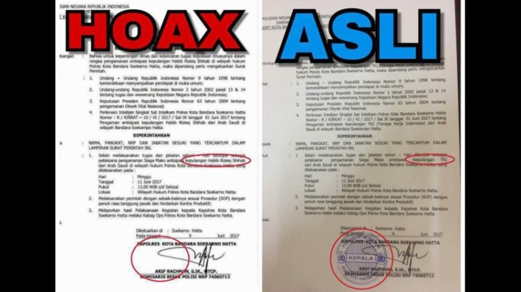 Polisi sebut surat antisipasi penjemputan besok hoax