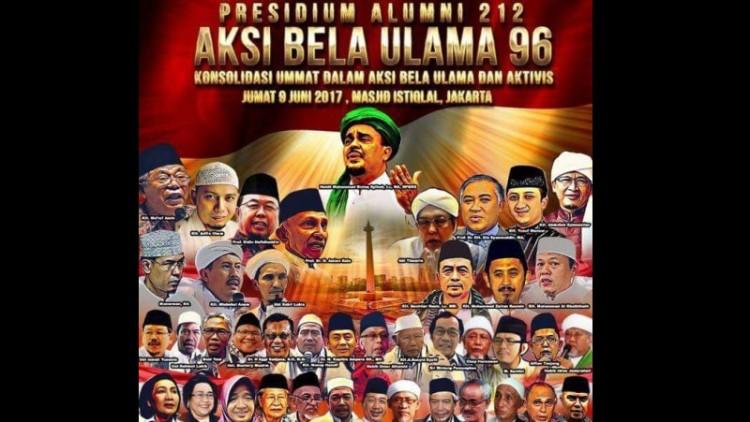 Poster aksi bela ulama 96