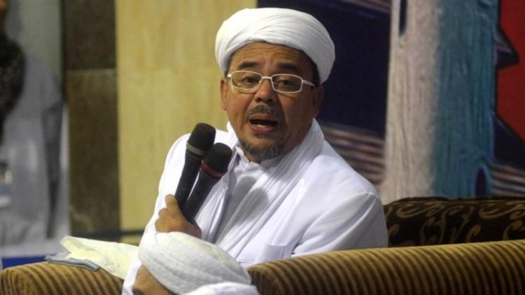 Rizieq saat berada di Masjid Sunan Ampel Surabaya