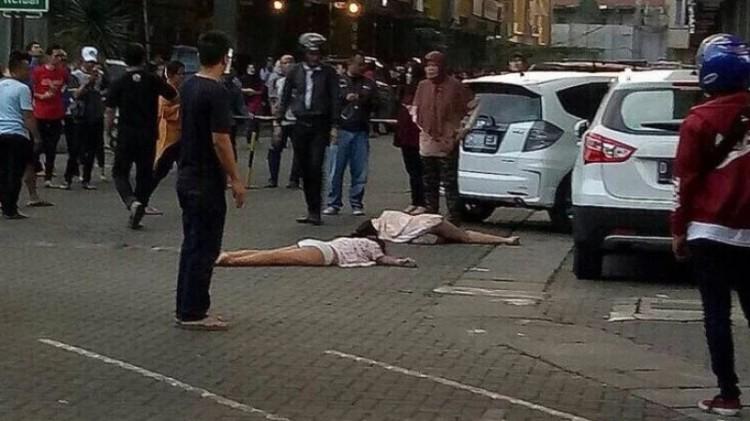 Penampakan 2 wanita yang bunuh diri di Apartemen Gateway Bandung