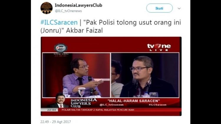 Akbar Faizal dan Jonru di ILC