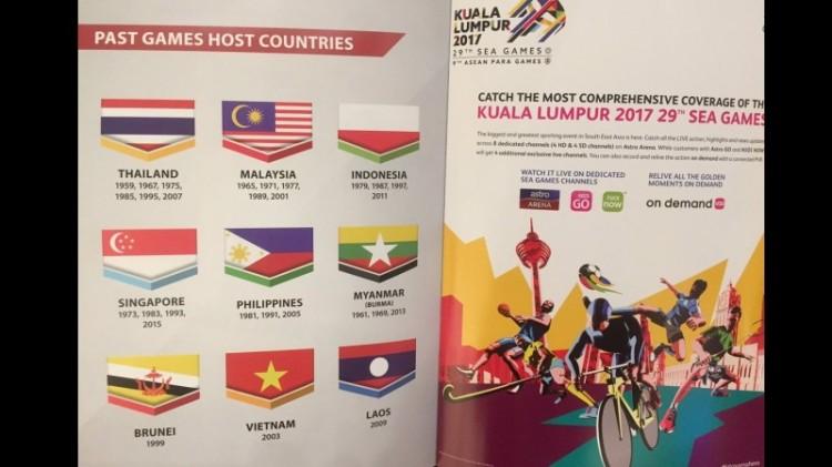 Bendera Indonesia Dicetak Terbalik di Buku Panduan SEA Games 2017