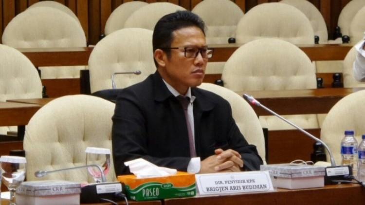 Brigjen Pol Aris Budiman di rapat pansus Hak Angket KPK