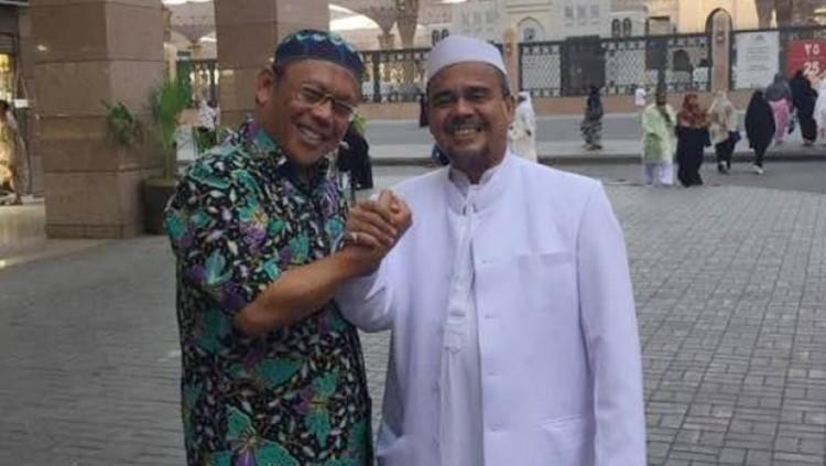 Eggi Sudjana dan Rizieq saat berada di Arab Saudi