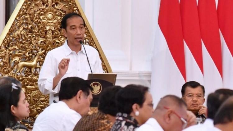 Presiden Jokowi di Istana Negara