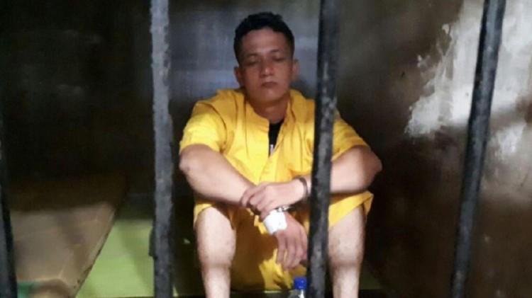 Serda Wira Sinaga saat ditahan