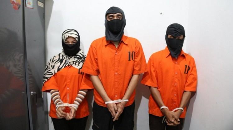 Tiga dedengkot sindikat Saracen dipamerkan polisi