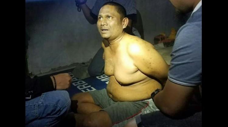 Abdul Malik Azis saat ditangkap