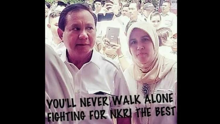 Asma Dewi bersama Prabowo