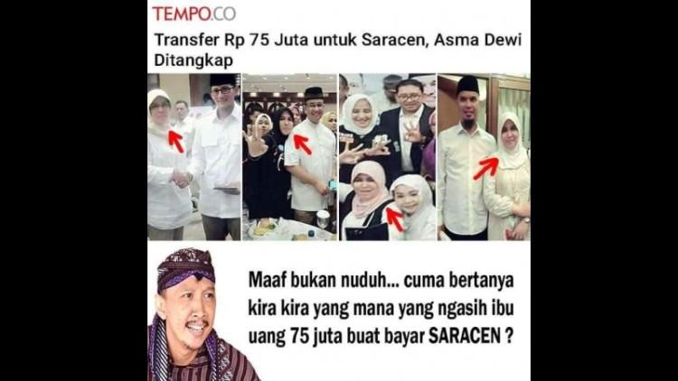 Asma Dewi ditangkap terkait Saracen