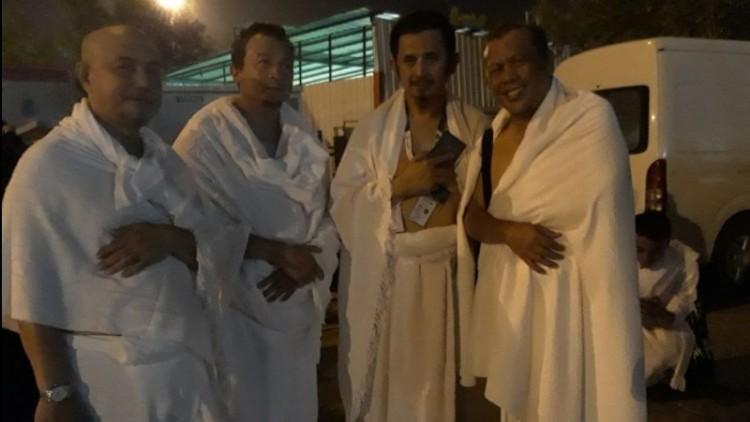 Eggi berfoto dengan Bachtiar Nasir, Zaitun, dan Tamsil Linrung