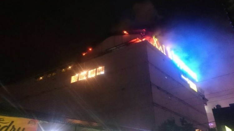 Gedung Jogja City Mall (JCM) terbakar
