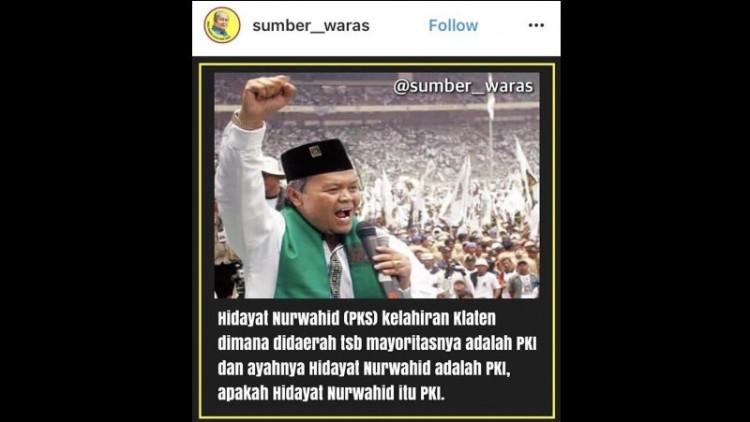 Hidayat Nurwahid disebut ayahnya PKI