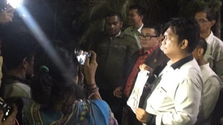 Pengacara Muannas Al Aidid di Polda Metro Jaya