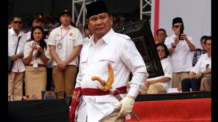 Prabowo saat tampil di GBK jelang Pilpres 2014
