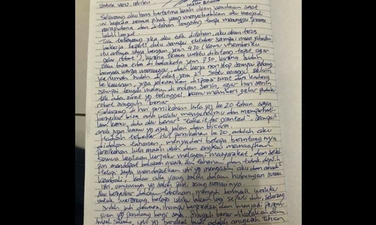 Surat Ahok untuk Vero