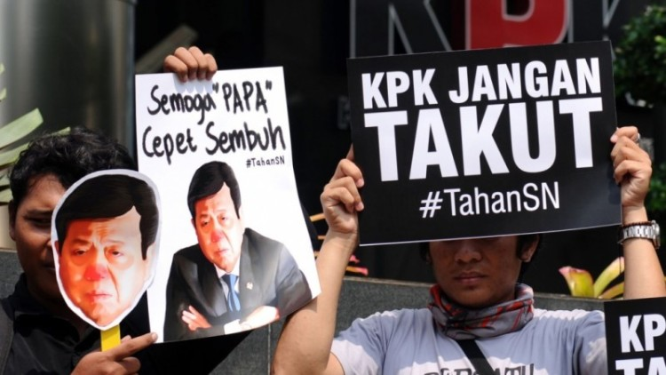 Aktivis tuntut KPK menahan Setya Novanto