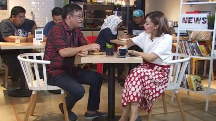 Djarot Saiful HIdayat saat diwawancara Najwa Shihab