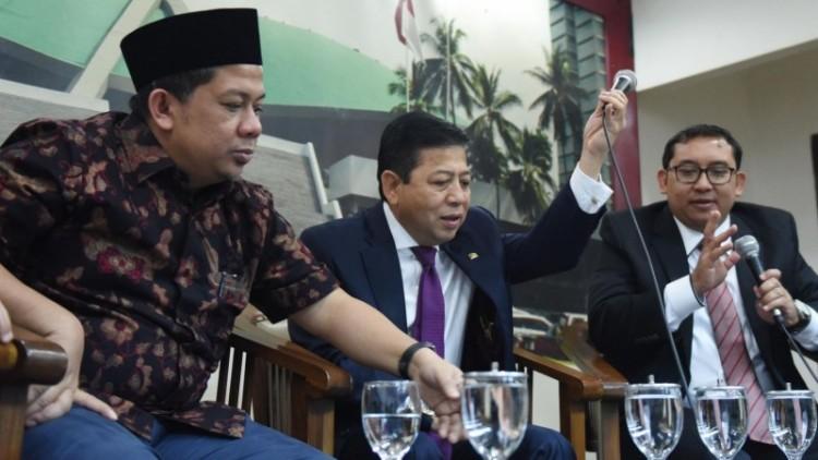 Fahri Hamzah, Setya Novanto dan Fadli Zon