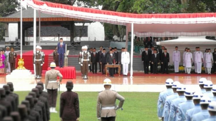 Jokowi memimpin upacara Hari Kesaktian Pancasila