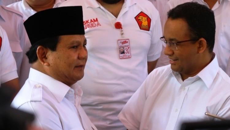 Prabowo Subianto saat bertemu Anies Baswedan
