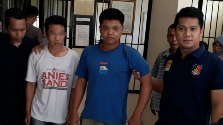 Tampang dua pelaku yang telah ditangkap