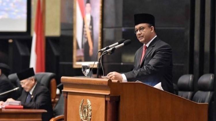 Anies Baswedan berpidato di Sidang Paripurna DPRD DKI Jakarta