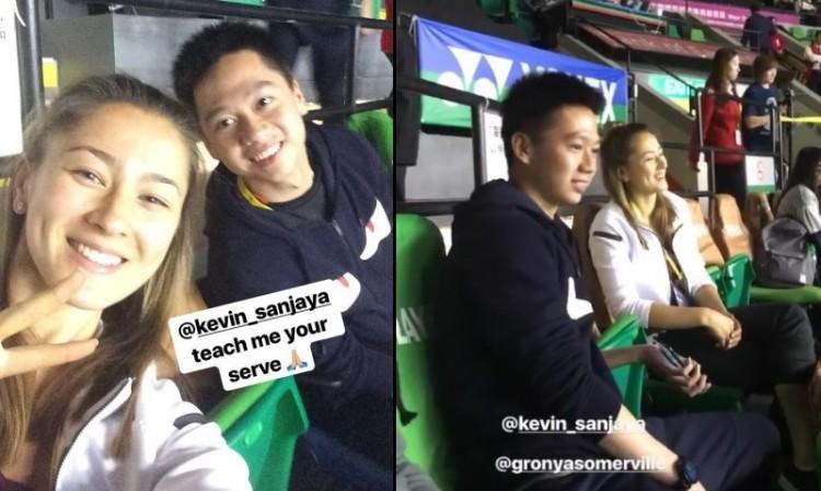 Gronya Somerville dan Kevin Sanjaya