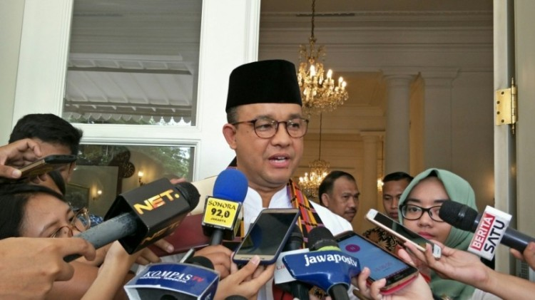 Gubernur DKI Jakarta Anies Baswedan di Balai Kota DKI