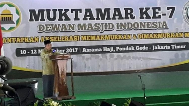 Jusuf Kalla berpidato di Muktamar DMI ke-7