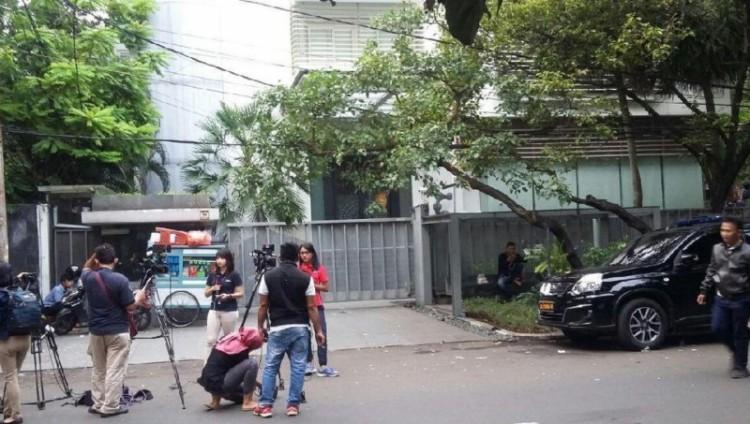 Penampakan rumah Novanto dari luar