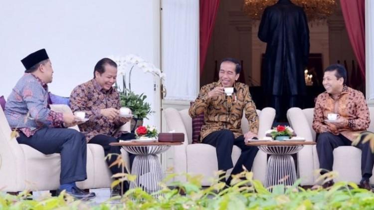 Pertemuan Jokowi dan pimpinan DPR di Istana