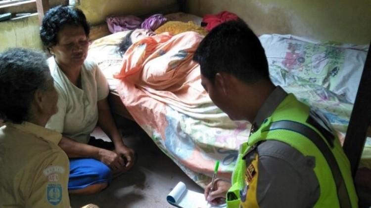 Polisi mendatangi TKP pembunuhan gadis difabel di Bantul