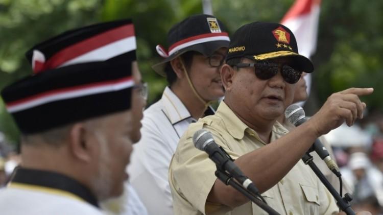Prabowo Subianto saat berpidato