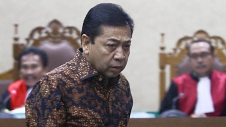 Setya Novanto saat bersaksi di Pengadilan Tipikor