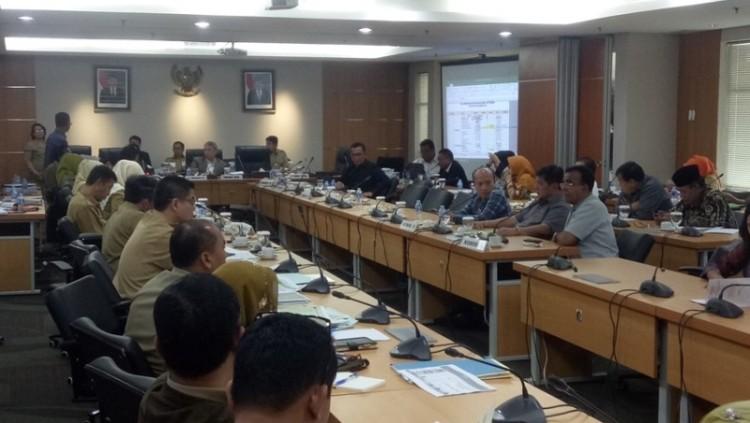 Suasana Rapat Badan Anggaran DPRD DKI
