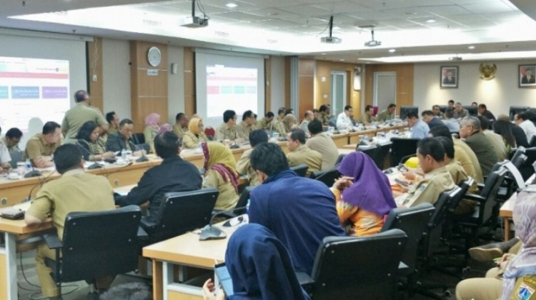 Suasana rapat banggar di Gedung DPRD DKI Jakarta