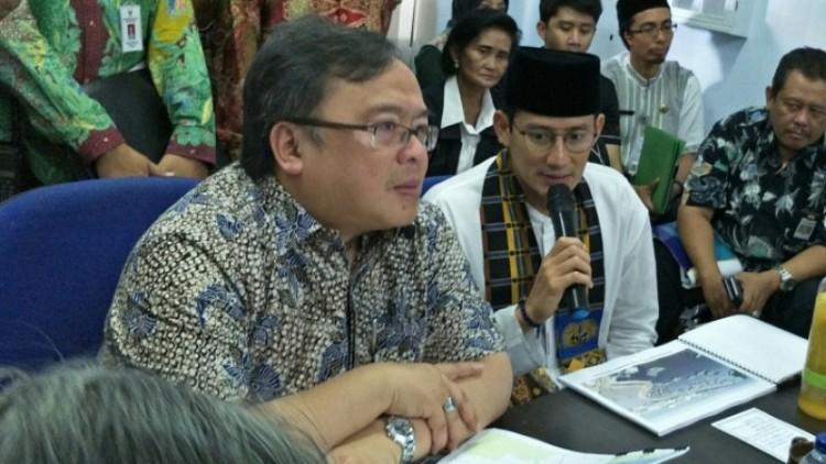 Bambang Brodjonegoro dan Sandiaga Uno