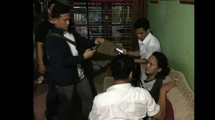 Cahyo Gumilar saat ditangkap polisi