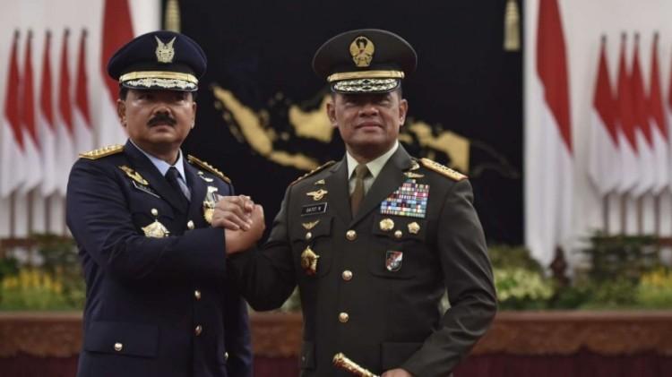 Marsekal TNI Hadi Tjahjanto dan Gatot Nurmantyo