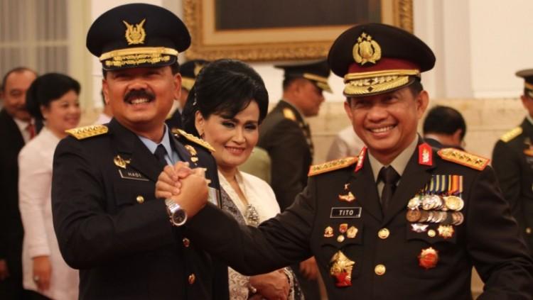 Marsekal TNI Hadi Tjahjanto dan Kapolri Jenderal Pol Tito Karnavian