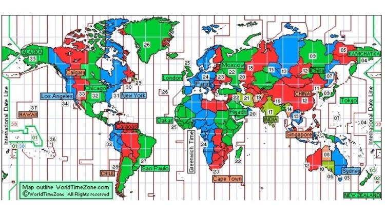 Peta perayaaan Tahun Baru 2018 di dunia