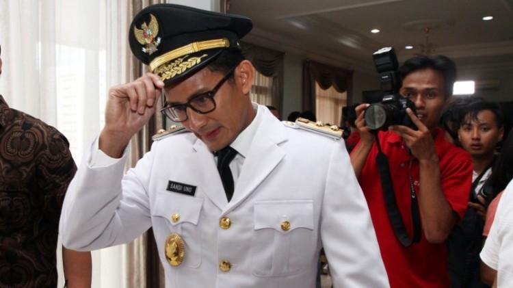 Sandiaga Uno Setelah Pelantikan Wakil Gubernur DKI