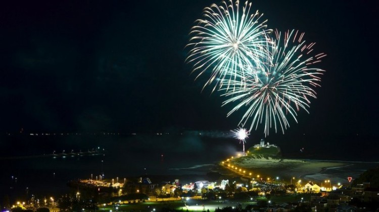 Suasana di Pulau Samoa saat merayakan tahun baru 2012