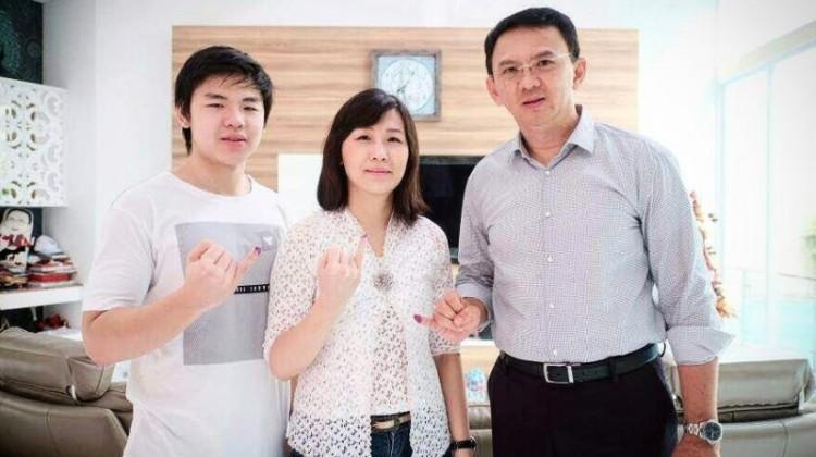Ahok, Veronica Tan dan Sean Nicholas Purnama