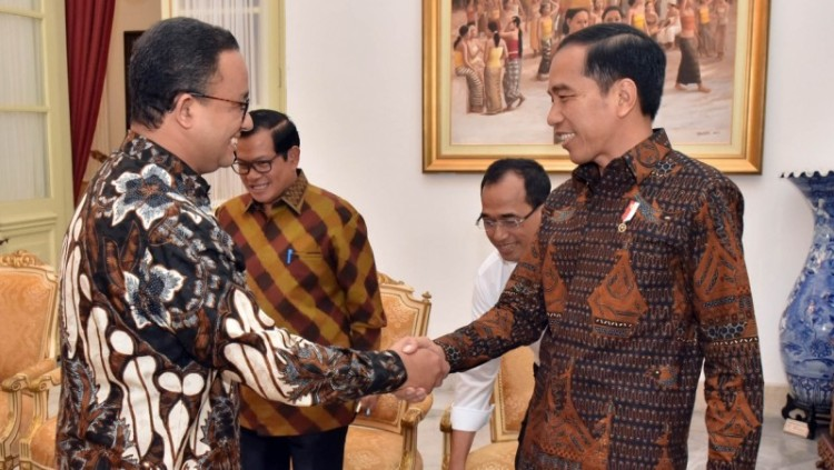 Anies Baswedan bertemu Jokowi di Istana Merdeka