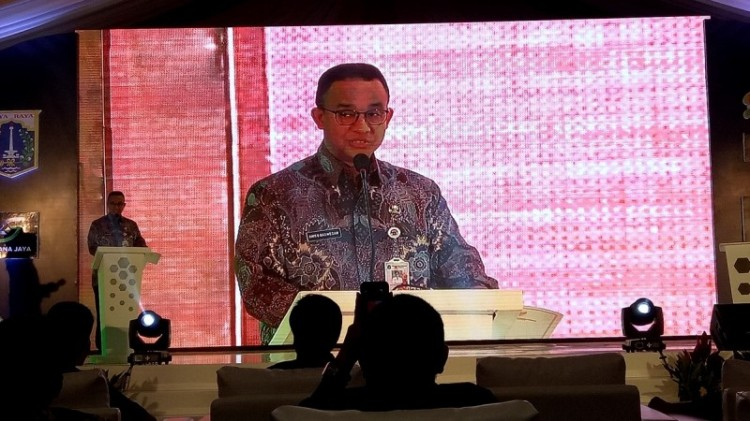 Anies meresmikan groundbreaking rusunami DP 0 Rupiah